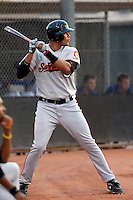 Chris Dominguez - San Francisco Giants - 2009 Arizona League, playing in his first professional game at Fitch Park, Mesa, AZ - 06/28/2009..Photo by:  Bill Mitchell/Four Seam Images