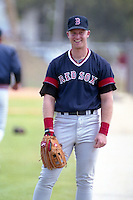 Boston Red Sox Greg Blosser during spring training circa 1991 at Chain of Lakes Park in Winter Haven, Florida.  (MJA/Four Seam Images)
