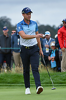 Danny Willett (GBR) after sinking his putt on 6 during round 2 of the 2019 US Open, Pebble Beach Golf Links, Monterrey, California, USA. 6/14/2019.<br /> Picture: Golffile | Ken Murray<br /> <br /> All photo usage must carry mandatory copyright credit (© Golffile | Ken Murray)