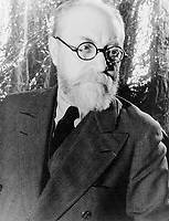 1933 May 20. - <br /> Portrait of Henri Matisse (1869-1954),<br /> <br /> Henri Matisse (31 December 1869 – 3 November 1954) was a French artist, known for his use of colour and his fluid, brilliant and original draughtsmanship. As a draughtsman, printmaker, and sculptor, but principally as a painter, Matisse is one of the best-known artists of the 20th century. Although he was initially labeled as a Fauve (wild beast), by the 1920s, he was increasingly hailed as an upholder of the classical tradition in French painting.[1] His mastery of the expressive language of colour and drawing, displayed in a body of work spanning over a half-century, won him recognition as a leading figure in modern art.