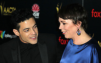 04 January 2019 - Los Angeles, California - Rami Malek, Olivia Colman. 8th AACTA International Awards hosted by the Australian Academy held at SKYBAR at Mondrian Los Angeles. Photo Credit: AdMedia