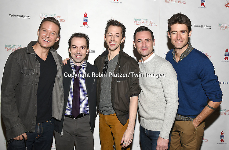 Will Chase, Rob McClure, Josh Grisetti, von Essen &amp; Drew Gehling attends the Broadway Cares/Equity Fights Aids Flea Market and Grand Auction on September 25, 2016 at the Music Box Theatre and in Shubert Ally in New York, New York, USA. <br /> <br /> photo by Robin Platzer/Twin Images<br />  <br /> phone number 212-935-0770