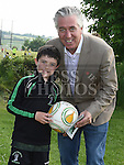 Peter Harmon pictured with FAI President John Delaney at the Albion Rovers 5 aside tournament. Photo:Colin Bell/pressphotos.ie
