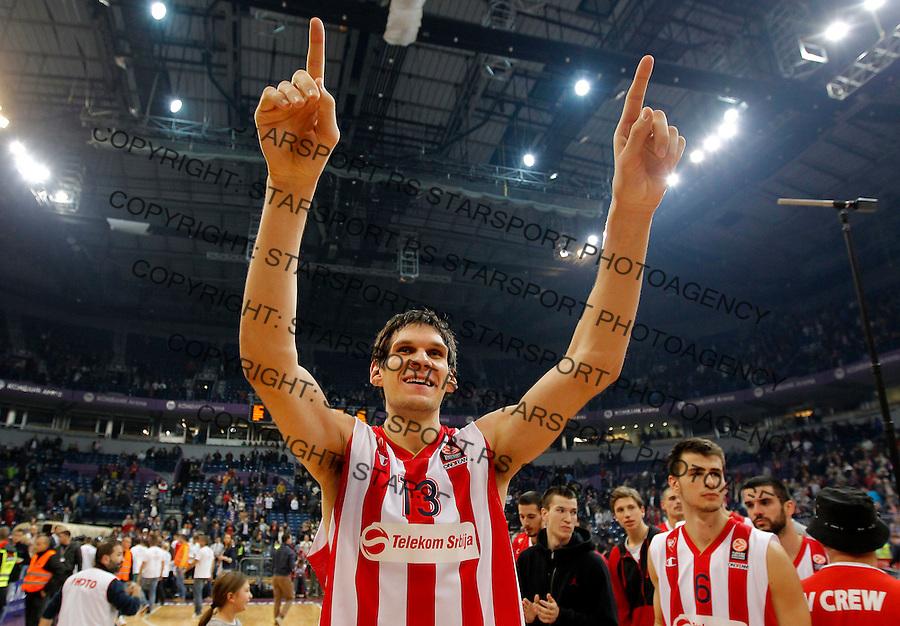 Kosarka Euroleague season 2014-2015<br /> Euroleague<br /> Crvena zvezda v Neptunas Klaipeda<br /> Boban Marjanovic celebrate<br /> Beograd, 27.11.2014.<br /> foto: Srdjan Stevanovic/Starsportphoto &copy;