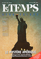 Cover of the June 1996 issue of &quot;Le Temps&quot; Magazine.<br />
