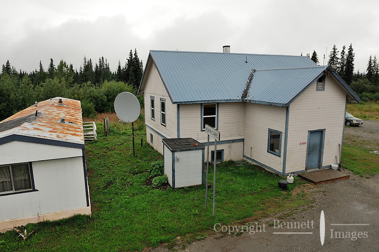 The stop at Hurricane consists of a couple of small buildings. The Alaska Railroad's Denali Star train runs between Anchorage and Fairbanks, with Denali one of the stops along the way.
