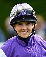 Jockey Kerryanne Alexander during Twilight Racing at Salisbury Racecourse on 14th September 2018