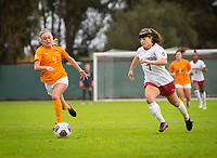 STANFORD, CA - November 23, 2018: Jaye Boissiere at Laird Q. Cagan Stadium. The top seeded Stanford Cardinal defeated the Tennessee Volunteers 2-0 in the Quarterfinal of the NCAA tournament.