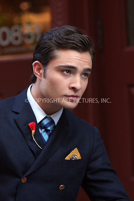 WWW.ACEPIXS.COM . . . . .  ....July 9 2009, New York City....Actor Ed Westwick on the set of the TV show Gossip Girl in Soho on July 9 2009 in New York City....Please byline: AJ Sokalner - ACEPIXS.COM..... *** ***..Ace Pictures, Inc:  ..tel: (212) 243 8787..e-mail: info@acepixs.com..web: http://www.acepixs.com
