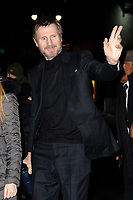 www.acepixs.com<br /> January 8, 2018 New York City<br /> <br /> Liam Neeson arriving to tape an appearance on 'The Late Show with Stephen Colbert' on January 8, 2018 in New York City.<br /> <br /> Credit: Kristin Callahan/ACE Pictures<br /> <br /> Tel: (646) 769 0430<br /> e-mail: info@acepixs.com