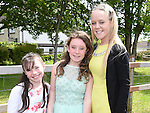 Justine McCabe who was confirmed in Holy Family Church Ballsgrove pictured with her sisters Kedi and Stacey. Photo:Colin Bell/pressphotos.ie