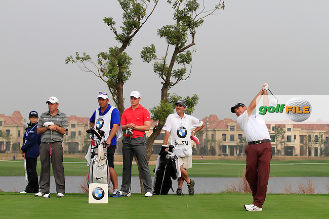 Rich Beem (USA) on the 7th on Day 2 of the BMW Masters 2012 at Lake Malaren Golf Club, Shanghai, China, Tuesday 26/10/12...(Photo www.golffile.ie)