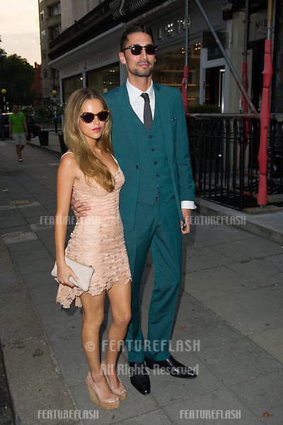 Hugo Taylor and Natalie Joel at the launch party for the Taylor Morris Eyewear Range, Chelsea, London. 05/09/2013 Picture by: Dave Norton / Featureflash