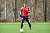 Matt Kassel (15) during a New York Red Bulls practice on the campus of Montclair State University in Upper Montclair, NJ, on July 16, 2012.