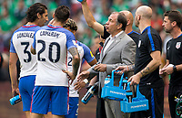 Mexico City, Mexico - Sunday June 11, 2017: Bruce Arena and USMNT during a 2018 FIFA World Cup Qualifying Final Round match between the men's national teams of the United States (USA) and Mexico (MEX) at Azteca Stadium.