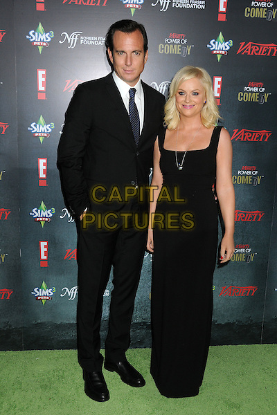 Will Arnett and Amy Poehler.Variety's 2nd Annual Power of Comedy Event held at the Hollywood Palladium, Hollywood, California, USA, .19th November 2011..full length black dress sleeveless long maxi suit tie married husband wife couple .CAP/ADM/BP.©Byron Purvis/AdMedia/Capital Pictures.