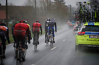 Due to the extreme winds (up to 80km/h), MANY riders simply couldn't keep up and were passed by the team cars rushing towards the front of the race<br /> <br /> 77th Gent-Wevelgem 2015