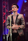 PANIC! AT THE DISCO - Brendon Urie - performing live at the BBC Radio One Big Weekend at Powderham Castle in Exeter UK - 29 May 2016.  Photo credit: George Chin/IconicPix