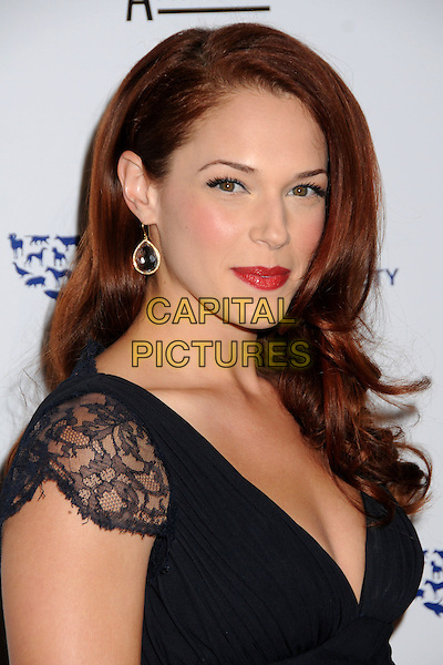 AMANDA RIGHETTI .24th Annual Genesis Awards - Arrivals held at the Beverly Hilton Hotel, Beverly Hills, California, USA, 20th March 2010..portrait headshot black lace red lipstick make-up  earring .CAP/ADM/BP.©Byron Purvis/AdMedia/Capital Pictures.