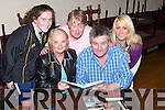 ANNOUNCEMENT: On Monday evening at the Austin Stacks GAA Club, Connolly Park, Tralee, announcing details of the forthcoming Music Table Quiz, which will be held at the Club on Thursday night April 26th, to raise funds for the Stacks Ladies Football Team. L-r: Jemma O'Connell, Noreen Power, Anne Eager, Harry Hynes and Stephanie Dowling..