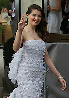 Laetitia Casta leaving the Martinez hotel during the 67th Cannes Film Festival - France