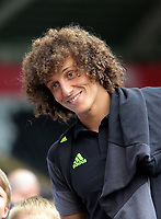David Luiz of Chelsea arrives prior to the Premier League match between Swansea City and Chelsea at The Liberty Stadium on September 11, 2016 in Swansea, Wales.