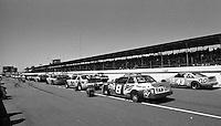 Transouth 500 at Darlington Raceway in Darlington, SC on March 20, 1988. (Photo by Brian Cleary/www.bcpix.com), Cars lined up for the Transouth 500 at Darlington Raceway in Darlington, SC on March 20, 1988. (Photo by Brian Cleary/www.bcpix.com)