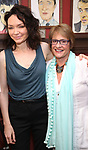Katrina Lenk and Patti LuPone during the Sardi's Portrait unveiling for The Band's Visit composer-lyricist David Yazbek at Sardi's on June 7, 2018 in New York City.
