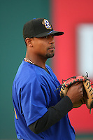 April 15 2009: Alberto Rosario of the Rancho Cucamonga Quakes before game against the Visalia Rawhide at The Epicenter in Rancho Cucamonga,CA.  Photo by Larry Goren/Four Seam Images