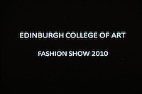 05/05/2010 Edinburgh College of Art fashion show