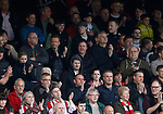 Sheffield Utd chief Executive and directors watch the match with the fans during the English League One match at Vale Park Stadium, Port Vale. Picture date: April 14th 2017. Pic credit should read: Simon Bellis/Sportimage