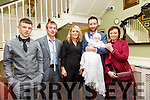 Baby Saoirse Kissane with her parents Timmy Kissane & Katie O'Connell and Cathal O'Connell, Sean Twomey & Michelle Kissane who was christened in Ballydonoghue Church by Fr. Lawlor on Saturday last and afterwards at the Listowel Arms Hotel.<br /> <br /> lisselton