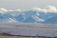 Snow covered Endicott Mountains of the Brooks Range, Arctic, Alaska.
