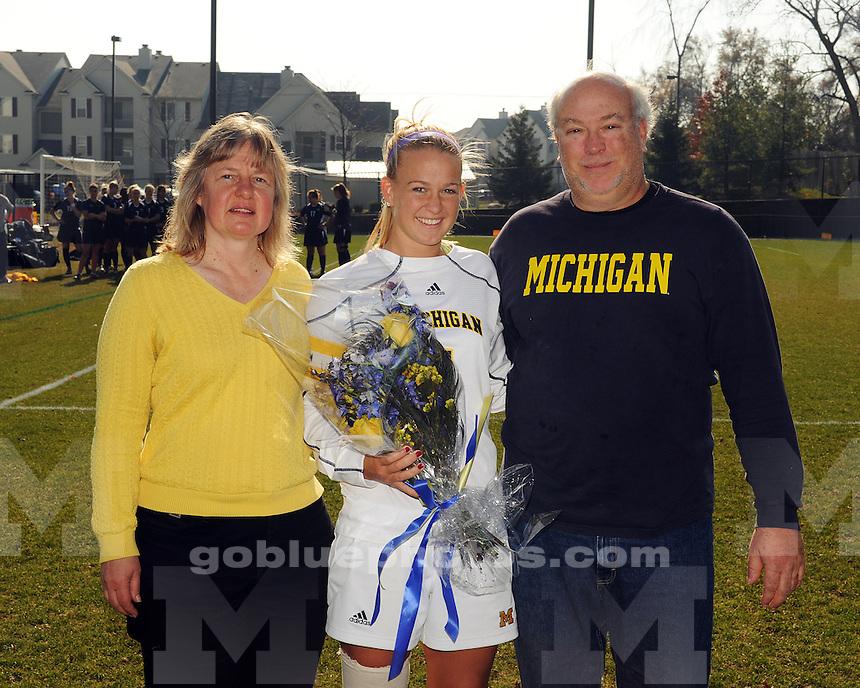 University of Michigan Women's Soccer vs Penn State on 11/08/2009 in Ann Arbor, MI (U-M Soccer Complex)