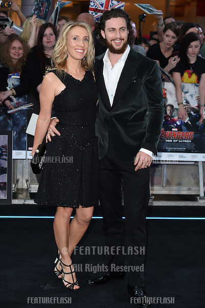 "Aaron Taylor Johnson and Sam Taylor Johnson arrives for the ""Avengers: Age of Ultron"" European premiere at the Vue cinema, Westfield London. 21/04/2015 Picture by: Steve Vas / Featureflash"