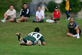 Manurewa winger M. Silioto scores his second try. Counties Manukau Premier Club Rugby, Pukekohe v Manurewa  played at the Colin Lawrie field, on the 17th of April 2006. Manurewa won 20 - 18.