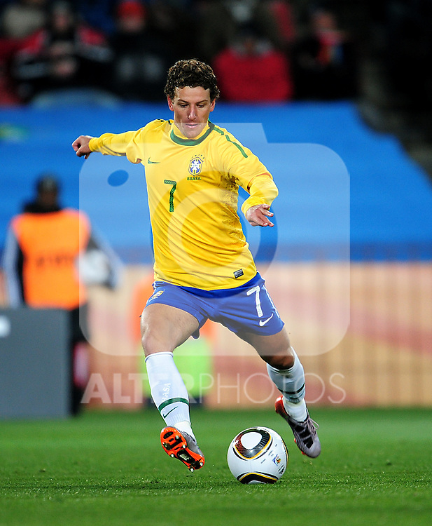 7 ELANO in action during the 2010 FIFA World Cup South Africa Group G match between Brazil and North Korea at Ellis Park Stadium on June 15, 2010 in Johannesburg, South Africa.