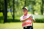 SUGAR GROVE, IL - MAY 29: Nick Hardy of the University of Illinois hits an approach shot during the Division I Men's Golf Individual Championship held at Rich Harvest Farms on May 29, 2017 in Sugar Grove, Illinois. (Photo by Jamie Schwaberow/NCAA Photos via Getty Images)