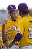 LSU Tigers pitcher Kevin Gausman #12 before the NCAA Super Regional baseball game against Stony Brook on June 10, 2012 at Alex Box Stadium in Baton Rouge, Louisiana. Stony Brook defeated LSU 7-2 to advance to the College World Series. (Andrew Woolley/Four Seam Images)