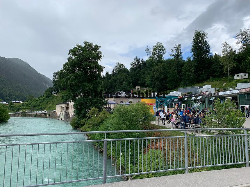 Ache bei Berchtesgaden am Salzbergwerk - Berchtesgaden 16.07.2019: Berchtesgaden