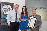 17/07/2015 The IRTE Skills Challenge 2015 prize-giving takes place at The National Motorcycle Museum, Birmingham. Sir Moir Lockhead (left) presents the Runner Up DVSA Inspection Apprentice award to Pamela Chapman of Arriva with Dave Easton of DVSA (right).