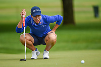 Carlota Ciganda (ESP) looks over her putt on 1 during the round 3 of the KPMG Women's PGA Championship, Hazeltine National, Chaska, Minnesota, USA. 6/22/2019.<br /> Picture: Golffile | Ken Murray<br /> <br /> <br /> All photo usage must carry mandatory copyright credit (© Golffile | Ken Murray)