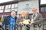 Shane Lehane,Treasurer Red Cross, Gillian Wharton Slattery, Mike Scanlon and Tralee Mayor Pat Hussey with one of the three defibrillators Tralee Council are Contributing towards the cost of the installation in the Town
