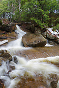 Ledge Brook in Livermore, New Hampshire USA during the spring months.