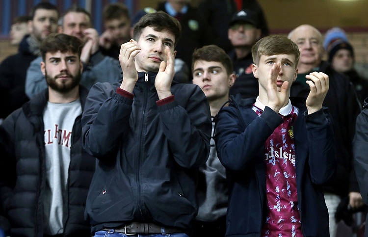 Burnley fans show their support at the final whistle despite a bruising 1 - 5 home defeat for their side<br /> <br /> Photographer Rich Linley/CameraSport<br /> <br /> The Premier League - Burnley v Everton - Wednesday 26th December 2018 - Turf Moor - Burnley<br /> <br /> World Copyright © 2018 CameraSport. All rights reserved. 43 Linden Ave. Countesthorpe. Leicester. England. LE8 5PG - Tel: +44 (0) 116 277 4147 - admin@camerasport.com - www.camerasport.com