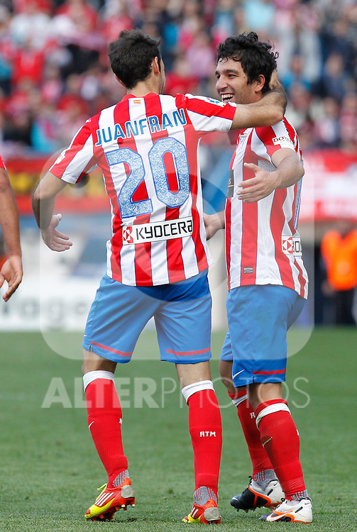 Madrid (14/04/2012).- Estadio Vicente Calderon.Liga BBVA.Atletico de Madrid-Espanyol.Juanfran, Arda...Photo: Alex Cid-Fuentes / ALFAQUI..