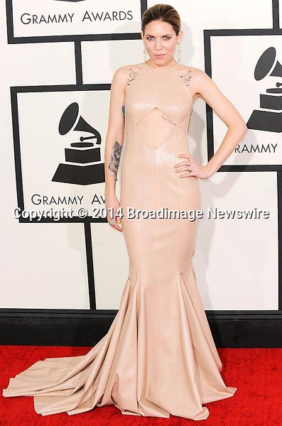 Pictured: Skylar Grey<br /> Mandatory Credit &copy; Adhemar Sburlati/Broadimage<br /> The Grammy Awards  2014 - Arrivals<br /> <br /> 1/26/14, Los Angeles, California, United States of America<br /> <br /> Broadimage Newswire<br /> Los Angeles 1+  (310) 301-1027<br /> New York      1+  (646) 827-9134<br /> sales@broadimage.com<br /> http://www.broadimage.com