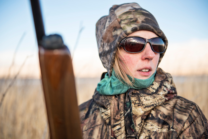Christine Marozick hunts waterfowl on the Red Rock River near Dillon, Montana.