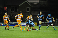 Nico Lee of Toyota Cheetahs is tackled by Willis Halaholo of Cardiff Blues during the Guinness Pro14 Round 5 match between Cardiff Blues and Toyota Cheetahs at the Cardiff Arms Park Stadium in Cardiff, Wales, UK. Friday 28 September 2018