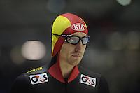 SCHAATSEN: HEERENVEEN: IJsstadion Thialf, 16-11-2012, Essent ISU World Cup, Season 2012-2013, Men 5000 meter Division B, Ferre Spruyt (BEL), ©foto Martin de Jong